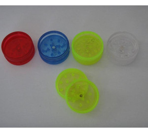 Mini Tobacco Grinders Hard Plastic Material Dry Herb Muller Crusher 2 parts 30mm Herbal Grinder for Smoking Pipes Tools