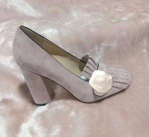 2019 otantik sığır derisi Yüksek kalın topuk ayakkabılar 34-42 toka tekne ayakkabı ilkbahar sonbahar Seksi Bar Ziyafet kadın Ayakkabılar 10cm metal topuklu