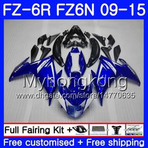 Cuerpo para YAMAHA FZ6N FZ6 R FZ 6N FZ6R 09 10 11 12 13 14 15 239HM.0 FZ-6R FZ 6R 2009 2010 2011 2012 2014 2014 2015 Fairings Factory blue blk