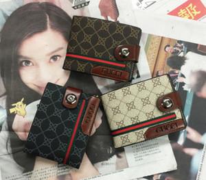 New Designer Handbags Vintage PU Mens Wallets Fine Brown Black PU Leather Credit Wallet for Men Free