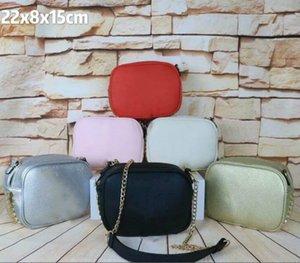 Las mujeres de lujo de la cadena Crossbady señora del diseñador Bolsas pequeñas de hombro de la manera marca de alta calidad bolso de la letra del color de caramelo bolsa