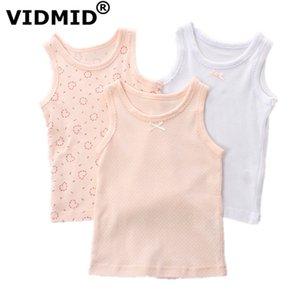 Vidmid Bebek Kız Kolsuz Giysileri Çocuklar Karikatür Kalpler T-shirt 1-7 Yıl Çocuklar Için Pamuk Tankları Yelek Tops Kız Tankları 4003 Y19051003