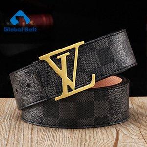 para mujer cinturones de diseño original de la manera sencilla de cuero atmósfera cinturón cinturones cinturones para hombre hebilla de oro de lujo de diseño de alta calidad ceinture