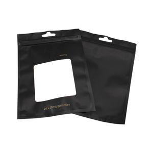 Promotion Clear Black Plastic Zipper Top Mylar Foil Bag Reclosable Aluminum Foil Zip Lock Package Bag Heat Sealable Food Grocery Sample Bags