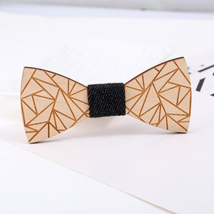 Presentes de Natal da festa de casamento Acessório Bow madeira Tie Mens Fashion desgaste quente de madeira de bambu Bowtie Neck por Mulheres Homens Gravata Set Ties gravata
