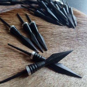 Tradizionale arco da caccia Tiro con l'arco Broadhead Bodkin Freccia capo ottomano Target Point medievale in legno Freccia forgiato a mano Arrowhea Ferro