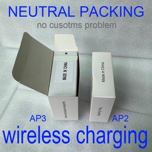 블루투스 헤드폰을 충전 공기 창 3 AP3 H1 칩 투명 금속 힌지 무선 포드 2 AP 프로 AP2 W1 이어 버드 2 세대를 PK