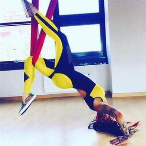 Para mujer Ropa de yoga de verano Marca de las mujeres Sexy Malla de Halter Costura Yoga Jumpsuit Sport Style Skinny Jumpsuits Mujeres Casual Ropa activa
