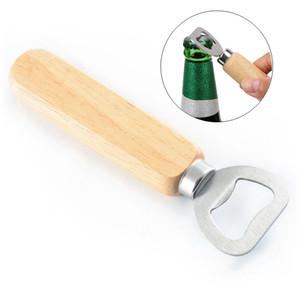 Manico in legno Bottiglia di birra dell'acciaio inossidabile apri partito birra del vino Opener friendly New Style Personalmente HHA350