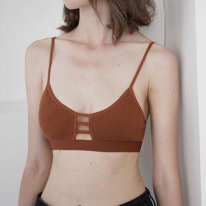 2020 Women Criss Cross Triple Crop Top Caged Strappy Casual Bra Bralette No Pad