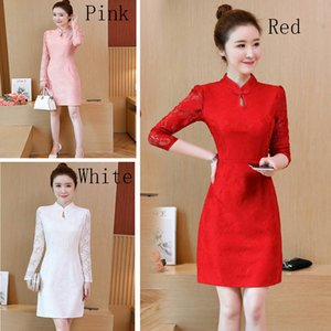New long sleeved dress Korean lace dress