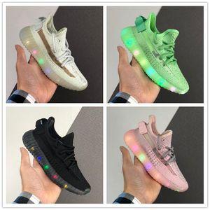 Kinder s Kanye West Ton V2 Hyperspace Luminous Sports Laufschuhe für Kinder Flache Anti-RutschyezzysyezzyAuftrieb350v2