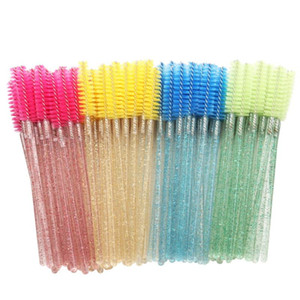 50pcs jetable Cils Applicateur Wands Bigoudi brosse Mascara Sourcils Spouleurs peigne Spoolies Brosses Wands