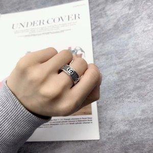 Высокое качество Серебряное кольцо Специальный дизайн Письмо Личность Кольцо ретро хип-хоп пару кольцо ювелирных изделий способа питания