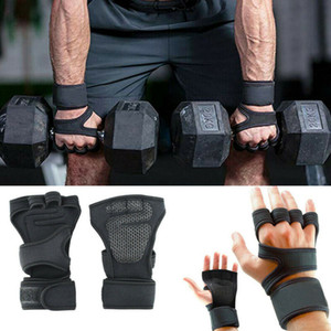 Professional Gym Fitness Gloves Hand Palm Protector with Wrist Wrap Support Cross fit Workout Bodybuilding Power Weight Lifting