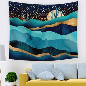 Mountain tapestry Amazon hot sale hanging cloth home tapestry decoration tablecloth background cloth picnic cushion home