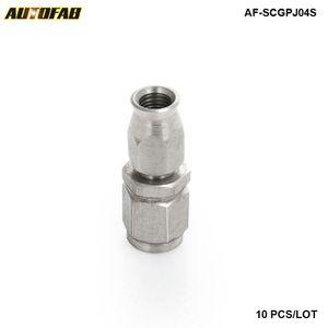 10PCS EPMAN AN -3 AN3 PTFE pivotant extrémité du tuyau Raccord droit Adaptateur carburant AF-SCGPJ04S (10PCS)
