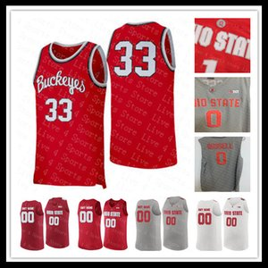 Männer 2020 NCAA Ohio State Buckeyes Basketball Jersey 0 Micah Potter 35 Gary Bradds 27 Fred Taylor LeBron James 23 Sticthed College-Shirts