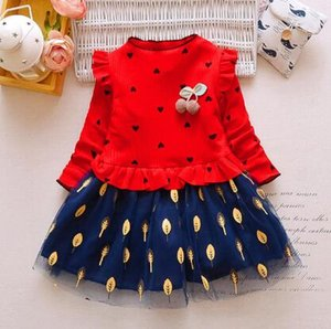 2019 fashion girls dress children spring autumn princess vestidos lace party dresses girl wedding dress baby girl dress