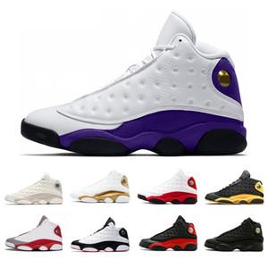 Chegam novas 13 13 s Lakers rivais homens mulheres tênis de basquete dos homens cinza dedo do pé preto gato Phantom Pure Money Criados azeitona Chicago Esporte tênis