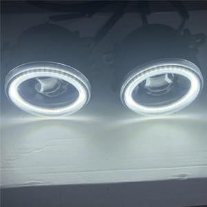 Angel Eyes высокой яркости переднего бампера автомобиля света Монтаж Fog Lamp для Mitsubishi Outlander L200 Pajero Грандис Galant 03-15.
