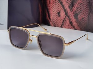 أزياء تصميم رجل نظارات 006 إطارات مربعة خمر شطب نمط uv 400 نظارات واقية في الهواء الطلق مع القضية