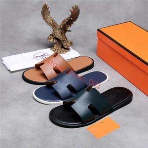Hermes slippersxshfbcl 2020Fashionable einfache Pantoffeln Männer Trend atmungsaktiv Art und Weise mit Sommer neuen Explosionen Farbe Leder slippersof