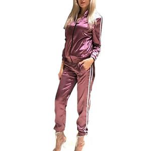 عارضة رياضية للنساء 2 قطعة مجموعة Outtwear سابغة هوديس رياضية كم طويل البلوز + سروال المرأة 'S مجموعات أنثى S-XL