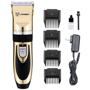 110-240V 7.4V 65w High speed motor 35 tooth ceramic cutter head 2hours charging Four-speed limit comb Pet hair electric clipper Shaver