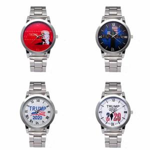 Trump 2020 Watch 4 Styles Quartz Silvery Stainless Steel Watchband Donald Trump Men Wrist Watches Clock LJJO7977