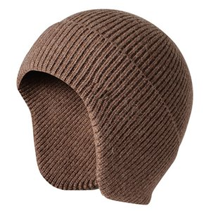 Men Women Autumn Ski Work Soft Knit Hat Winter Warm Solid Casual Students Ear Flap Stretch Beanie Outdoor