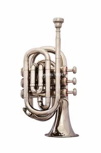 Strumento musicale del nastro nuovissimo Pocket Mini tromba Bb Tune placcato professionale con il caso di trasporto