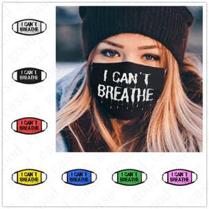 Non riesco a respirare lettere stampate Maschera per il viso di lusso Sport Ciclismo Bocca Maschere Cover Designer Donna Uomo antipolvere faccia copertura DHL VENDITA D6404