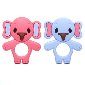 Kuulee Babies Silicone Teething Toys Boys Easy teethers Hold Soft Bendable Highly Effective Elephant Teether Ring Best