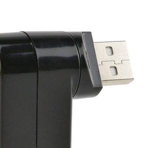 Mini 3 Port USB 3.0 Rotating Splitter Adapter Hub For PC Laptop Notebook Mac