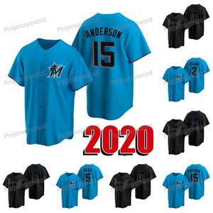 2020 New Season Brian Anderson Jersey Jonathan Villar Jon Berti Lewis Brinson Sandy Alcantara Mens Womens Youth Custom Baseball Jerseys