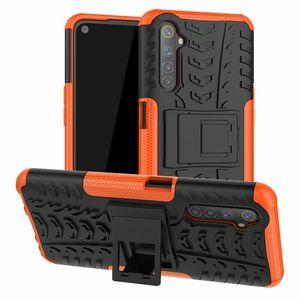 For OPPO Realme 6 Case Dynamic Armor Combo Shielder Hard Plastic Back Cover Sticker Case For OPPO Realme 6