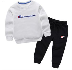 Novas marcas de grife quentes do bebê primavera roupas define crianças menino menina top calças 2 pcs ternos fatos de treino 3-7 anos traje para crianças