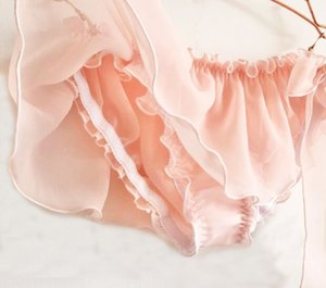 2020 New Arrival 100% Real Photo Lovely Cute Lolita Kawaii Sexy Chiffon Side Tie Underwear Brief Lingerie Knickers Panties WP670
