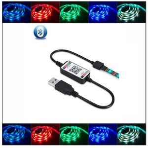 Беспроводная мини-WiFi Диммируемого контроллер RGB LED Bluetooth Music APP контроллер для 5050 3528 Strip Light модулей