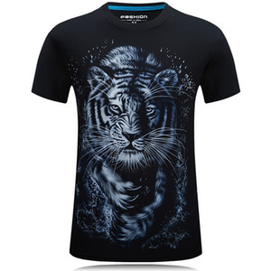 New Arrival Cheap 3D Tshirt Mens Cotton Hot 2020 Summer Animal Snake Tiger Wolf Lion Printed T-shirts Men Cotton Casual T shirts