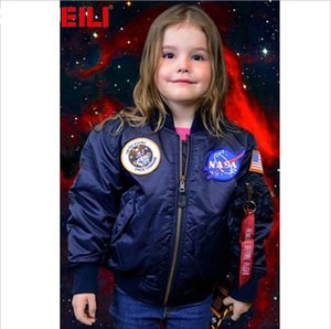 NASA Designer Jackets Manteaux MA1 Flight Pilot Bomber enfants Veste coupe-vent Baseball Wintercoat garçon Veste Veste enfants Taille 2-10years