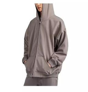 2020ss gris con capucha de las mujeres de los hombres de Hip Hop desgaste de la calle lavada dongguan_ss hacer viejo