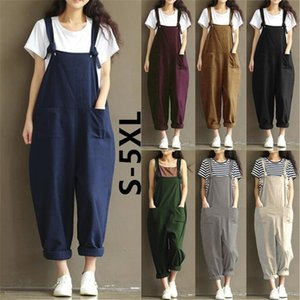 Women Jumpsuit Oversize One Piece Pants Sleeveless Suspenders Gallus Suit Designer Loose Pants Bodysuit Jumpsuits Literary Llacks Clothes