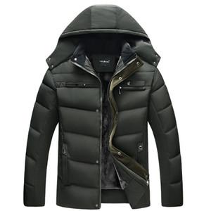 Новая мужская вниз куртки пальто зимы с капюшоном куртки Мужчины Открытый вскользь капюшоном сгущает Дешевые пуховики XL-4XL