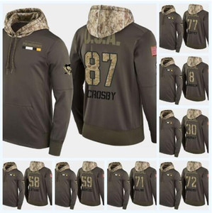 Individuelle Sidney Crosby Pittsburgh Penguins MilitärCamo Hoodie USA Flagge irgendein Name Jede Zahl