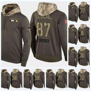 Personalizado Sidney Crosby Pittsburgh Penguins Camo militar Hoodie da bandeira dos EUA Qualquer Nome qualquer número