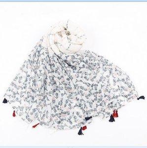 impressão pendão único algodão lenço viagens por atacado verão Protetor solar nova alta qualidade cachecol xale Sarongs toalha decorativo lenços de praia menina