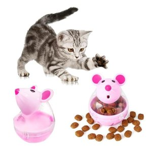 Vaso alimentador gato juguete divertido del ratón del juguete que se escapa de dispositivos bolas Pet Food Juguetes educativos de fuga del animal doméstico divertido Interactive Toy gato 2 colores