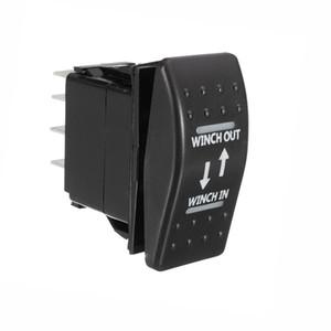 12V 20A 7 Pins автомобилей Лебедка В Лебедка Out ON -OFF-ON Rocker Switch Кратковременный LED